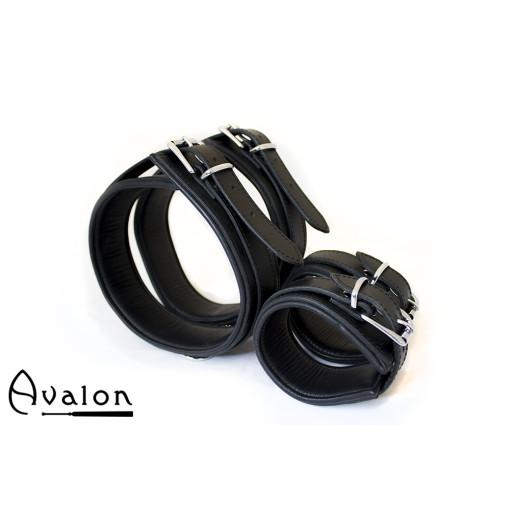 AVALON - BOUND - Lår og Håndcuffs - Sort
