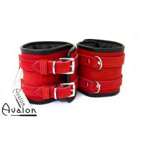 Avalon - CONTROL - Ekstra brede Håndcuffs Rød og Svart